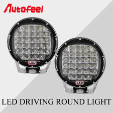 2x 9Inch 640W Round LED Driving Light Spot Flood Offroad ATV 4WD Work Lamp 12V