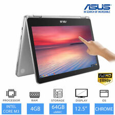"ASUS Chromebook Flip C302CA 12.5"" 2-in-1 Laptop Intel Core M3, 4GB RAM, 64GB"