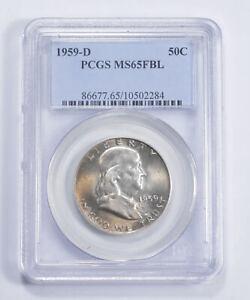 MS65 FBL 1959-D Franklin Half Dollar - Graded PCGS *767