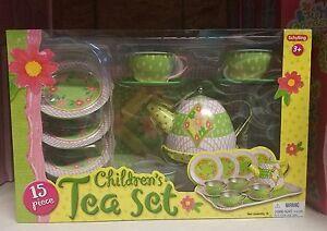 Schylling 15 piece Children's Tin Tea Set
