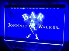 JOHNNIE WALKER BAR Club LED Neon Light Sign Display Kit Banner Man Cave Custom