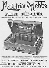 MAPPIN & WEBB Fitted Suitcases Victorian Advertisement 1896