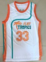 Fang Retro Basketball Movie Semi Pro Jersey Jackie Moon #33 Flint Tropics Green