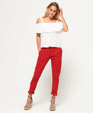 New Womens Superdry International Sweet Chinos College Red
