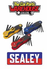 Sealey S01072 3pc Folding Key Set  3 SEPARATE  Hex and Ball End & TRX Star
