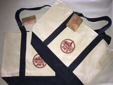 2 NEW Trader Joe's Reusable Canvas Eco Tote Bag (Heavy Duty Grocery Bag)