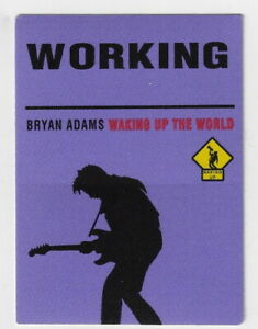 BRYAN ADAMS  / Unused OTTO Satin Cloth WORKING Pass : WAKING UP THE WORLD Tour