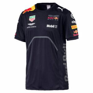 Kinder Aston Martin Red Bull Racing Formel 1 Teamline Tee T-Shirt von Puma 2018