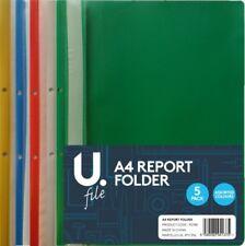 Las carpetas de archivos de informe de proyecto de plástico A4 2 Puntas - 5 Colores Libre P&P