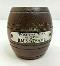 More details for miniature wooden barrel made from the teak of royal navy ship hms sesame