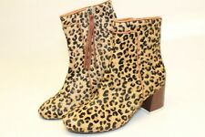 TOMS NEW Womens 6 Cheetah Print Cow Fur Booties Ankle Boots