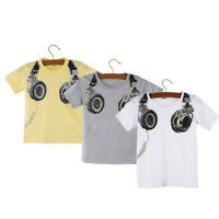 Toddler Kids Baby Boy Casual Summer Short Sleeve Tops Blouses T Shirt Tees