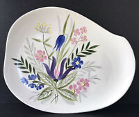 """Vintage Red Wing Pottery Country Garden Serving Platter 15"""" 1950's Mid Century"""