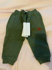 NEW Gorgeous BNWT Burberry jogging pants green toddlers 18 months RRP £130