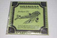 WARBIRDS GERMAN NAZI JUNKERS D.1, 1:72 SCALE, SEALED