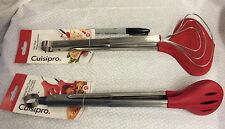 """Choose One New Browne & Co Cuisipro 13"""" Silicone Fish Tongs/Turner or -ship free"""