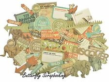 INTO THE WILD Collectables Collection Scrapbooking 50 p Die Cuts Kaisercraft NEW