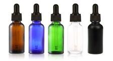 30ml Clear Amber Blue Green Black Glass Bottle Liquid Pipette Bottle Eye Dropper