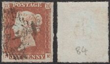 Great Britain 1841 QV 1d. red-brown SG 8 PRIVATELY ROULETTED VFU. SEE DESCR.