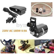 Motor de la máquina de coser doméstica y control de pie 180w anti rotación de las agujas del reloj