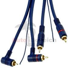 Cinch Kabel 5m Remote Leitung RCA Verstärker Endstufe Adapter Chinch Stecker KFZ