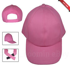 Plain Baseball Cap Baby PINK CHINO Adjustable Snapback Casual Sports UNISEX HAT