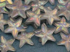 15mm Star Rhinestones Embelishments Flat Back Acrylic Plastic Cosplay Gems 35Pcs