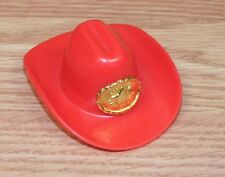 Unbranded / Generic Red Cowboy / Cowgirl Hat W/ Star For Kids Toy Only **READ**