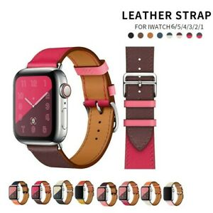 iWatch Leather Strap For Apple Watch Leather Band 38 40 42 44mm Series Wristband