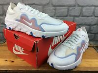 NIKE MENS UK 8.5 EU 43 RENEW LUCENT WHITE BLUE RED TRAINERS LADIES RRP £70 C