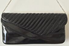 STEVE MADDEN Clutch Shoulder Evening Bag Purse BLACK Patent Leather