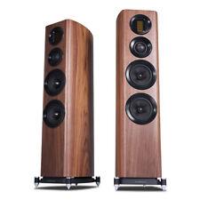 Wharfedale Evo 4.4 Walnut 3-way Floorstanding Speakers, Pair