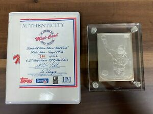 Highland Mint Topps 1993 Rick Mirer Rookie Limited Edition of 500 SILVER RC Card
