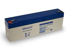 UL lead Acid Rechargeable Battery 12V 2.4Ah (UL2.4-12) Faston (4.8mm) VRLA VdS