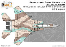 Camouflage Paint Masks IAF F-15I Ra'am 1/72 Camo (for G.W.H. #L7202) DN Models