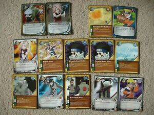 14 x Naruto CCG Cards 2002 Including 2 x foil and 10 x 1st Edition
