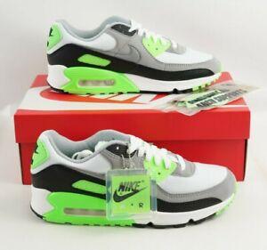Nike Air Max 90 CW5458-100 Green White Black Athletic Shoes Men's 8 Women's 9.5