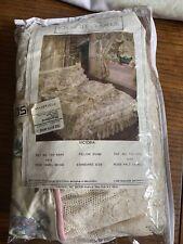Croscill Home 2 Victoria Pillow Shams Cabbage Rose Cream Lace