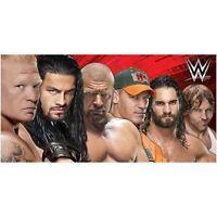 OFFICIAL WWE LINE UP BEACH BATH TOWEL SOFT COTTON KIDS ADULTS