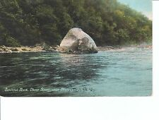 Early 1900's The Squirrel Rock, Cheat River near Morgantown, West Virginia PC