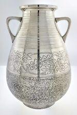"""Antique 19th Century Miyamoto Shoko Tokyo Japan 925 Sterling Silver Vase 6 3/8"""""""