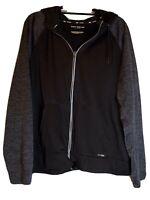 Tek Gear Drytek Men's Reflective Zip Black Hoodie Size XL