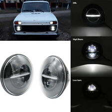 """2x 7"""" Upgrade LED  DRL Headlamp Headlights High Low Beam For LANDROVER DEFENDER"""