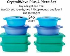 Tupperware Crystalwave Plus BOGO FREE 4 pc microwaveable set.8 pieces total $46!
