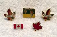 Canada Lapel Lapel Pin Lot 5 Maple Leaf Ontario Saskatchewan