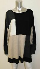 STYLE & CO NWT Black/Tan Colorblock Soft Knit Pullover Sweater Plus sz 3X $69