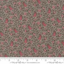Moda French General Pondicherry Floral Acacia Fabric in Dove Grey 13635-27