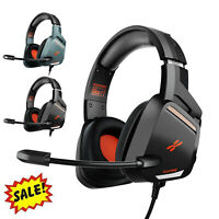 Gaming Headset Stereo Headphone 3.5mm Mic For PS4/Nintendo Switch/Xbox One/PC US