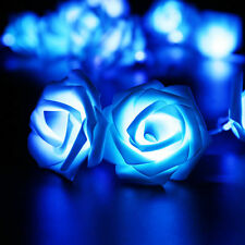 2.5M 20 LED Rose Flower Wedding Garden Party Christmas Decor String Fairy Lights