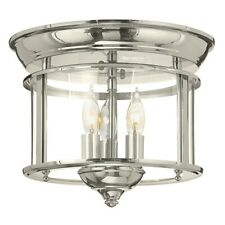 Hinkley Lighting Gentry 3 Light Foyer Flush Mount, Polished Nickel - 3473PN